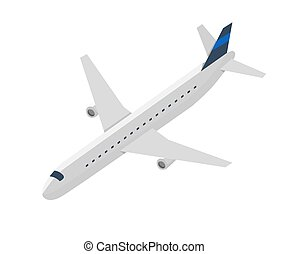 Passenger jet airplane isolated vector icon - Passenger jet...