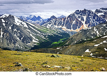 Rocky Mountains in Jasper National Park, Canada - Scenic...