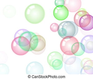 Motion background with moving soap bubbles