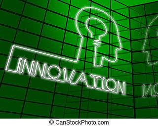 Innovation Head Shows Reorganization Transformation 3d...