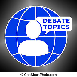 Debate Topics Shows Dialog Subjects 3d Illustration