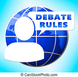 Debate Rules Showings Dialog Guide 3d Illustration