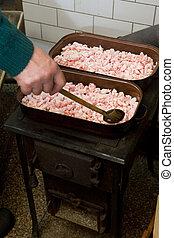 traditional pig-sticking lard, Czech Republic