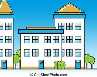 Apartment Building Representing Condominium Property 3d...