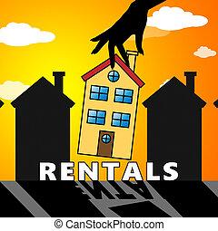 Property Rentals Means Real Estate 3d Illustration -...
