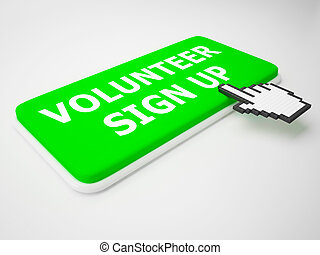 Volunteer Sign Up Showing Register 3d Rendering