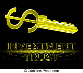 Investment Trust Means Investing Fund 3d Illustration -...