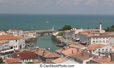 Il de Re harbor France Atlantic coast