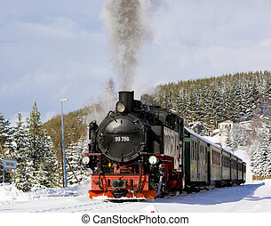 steam train, Germany - steam train, Oberwiesenthal -...