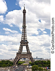 Eiffel, 塔, 巴黎, 法國