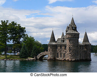 Boldt Castle on Ontario lake, Canada - Boldt Castle between...