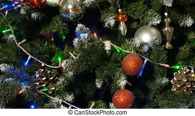 Decorated christmas tree. - Decorated christmas tree with...