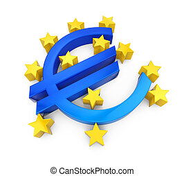 European Central Bank Symbol Isolated - European Central...