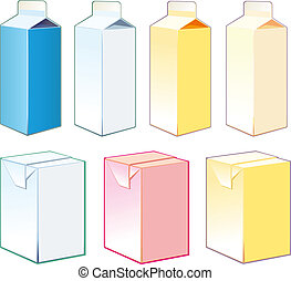 Paper cartons for milk and juice