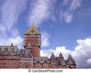 Frontenac castle hotel in Quebec, Canada