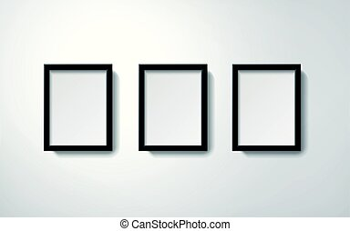 Orderly picture frames collection - Blank picture frames...