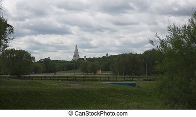 Church of the Ascension in the Kolomenskoye park. FHD shot...