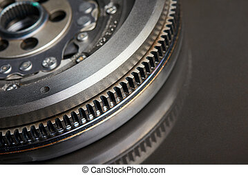 Closeup of Dual-Mass Flywheel - Closeup cropped image of...