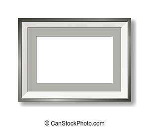 metallic vector picture frame with passe-partout