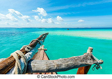 amazing view of sky and ocean from boat - amazing view of...