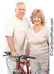 Active elderly couple
