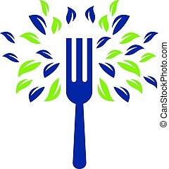 Fork restaurant vector logo design template.