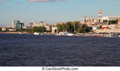A view of the city of Samara from the deck of the ship...