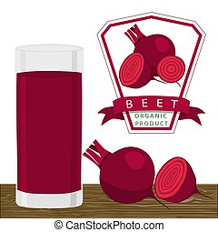 The red beet - Abstract vector illustration logo for whole...