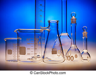 Glass laboratory containers
