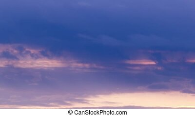 Red, purple, violet, orange color sunset sky clouds time lapse