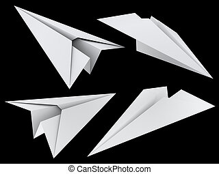 paper toy plane