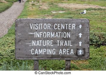 Vintage National Park Sign
