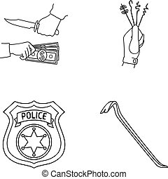 Robbery, picks, a police officer s badge, a crowbar.Crime...