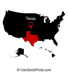 map of the U.S. state of Texas