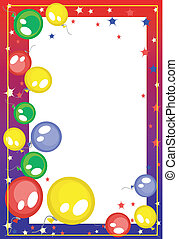 Background with balloons