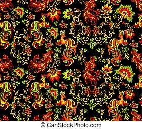 Seamless khokhloma pattern
