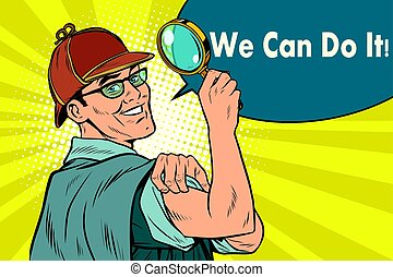 Sherlock Holmes detective sleuth we can do it