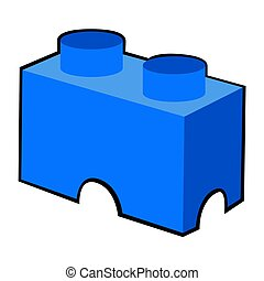 Isolated building block toy on a white background, Vector...
