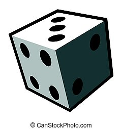 Isolated dice toy