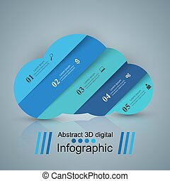 Business Infographics. Sun, Weather, Cloud icon. - 3D...