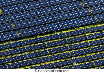 Solar farm - The solar power plant near Ceska Kamenice in...