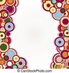 Abstract frame with circles - Abstract frame with concentric...