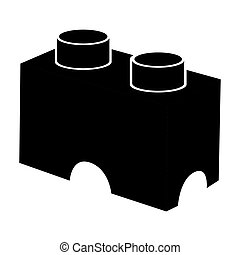 Isolated building block silhouette - Isolated silhouette of...