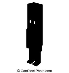 Isolated nutcracker silhouette - Isolated silhouette of a...