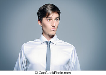 white collar worker - Portrait of a handsome young man...