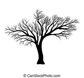 bare tree silhouette vector symbol icon design.