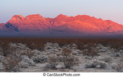 Providence Mountains Fountain Peak Mojave Desert Landscape -...