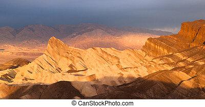Rugged Badlands Amargosa Mountain Range Death Valley...