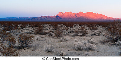 Providence Mountains Fountain Peak Mojave Panoramic Desert...