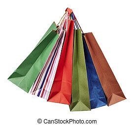 shopping bag consumerism retail - collection of shopping...